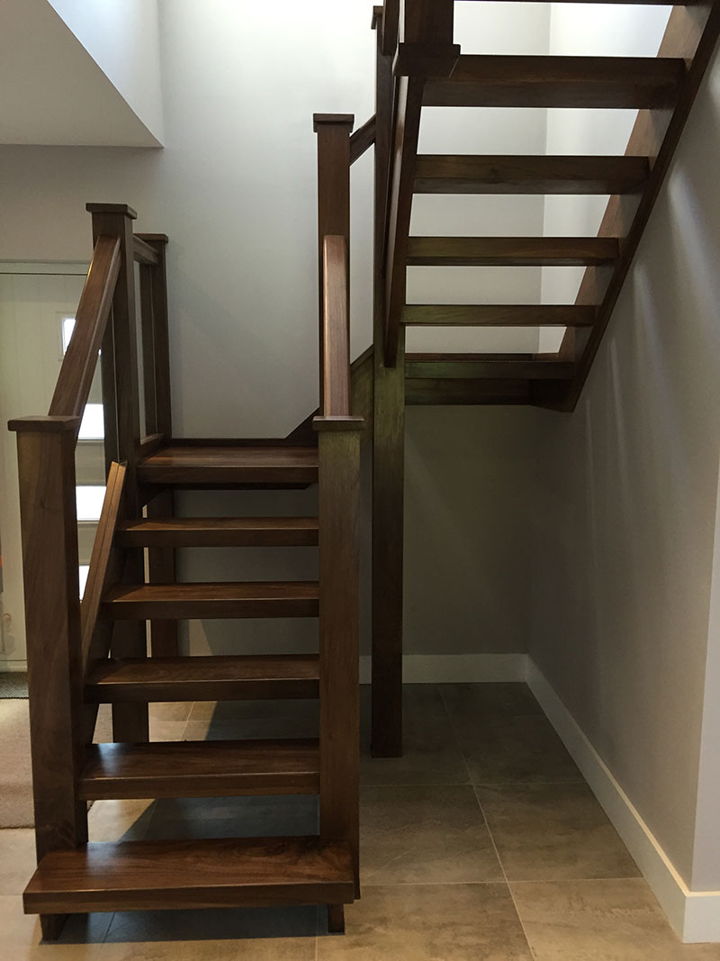 American Black Walnut Staircase In Leatherhead